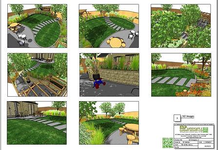 4, Garden design, 3D images, Wakefield.J