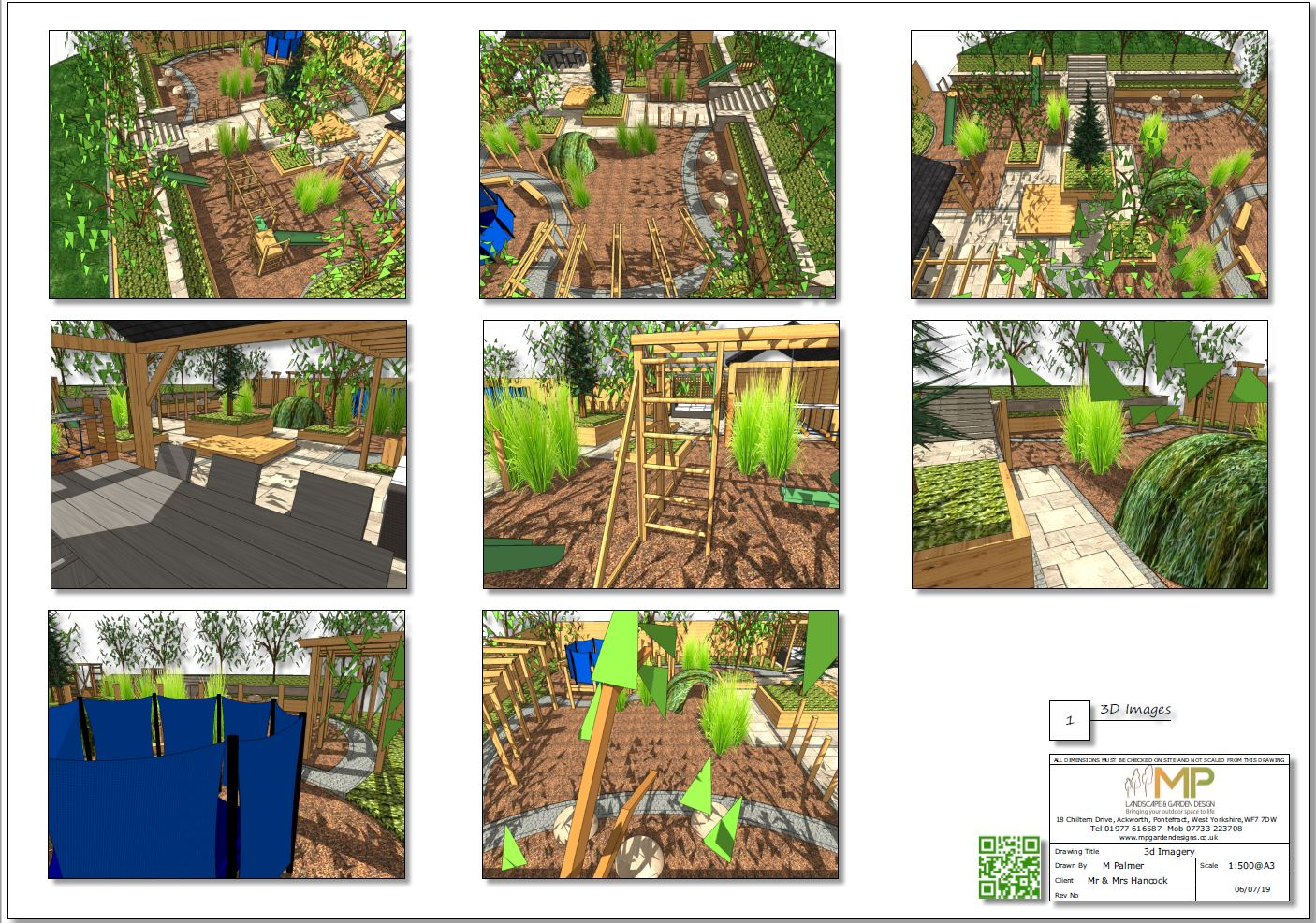 3, Childrens play garden, 3D images, Pontefract