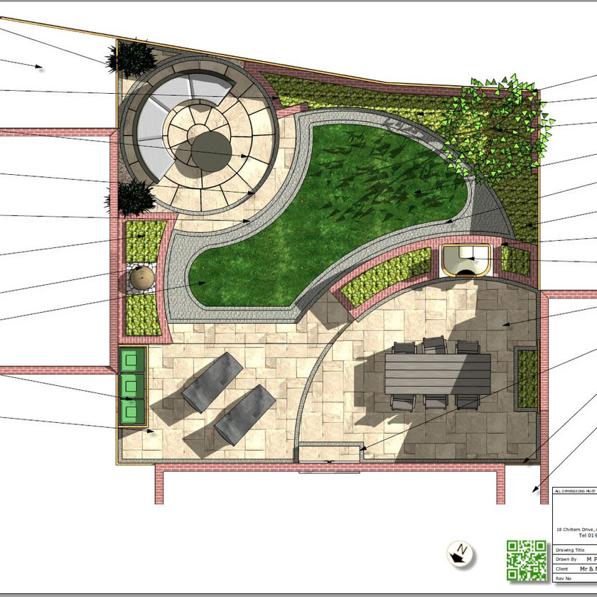 Concept plan-3 for a new build property in Pontefract, West Yorkshire.
