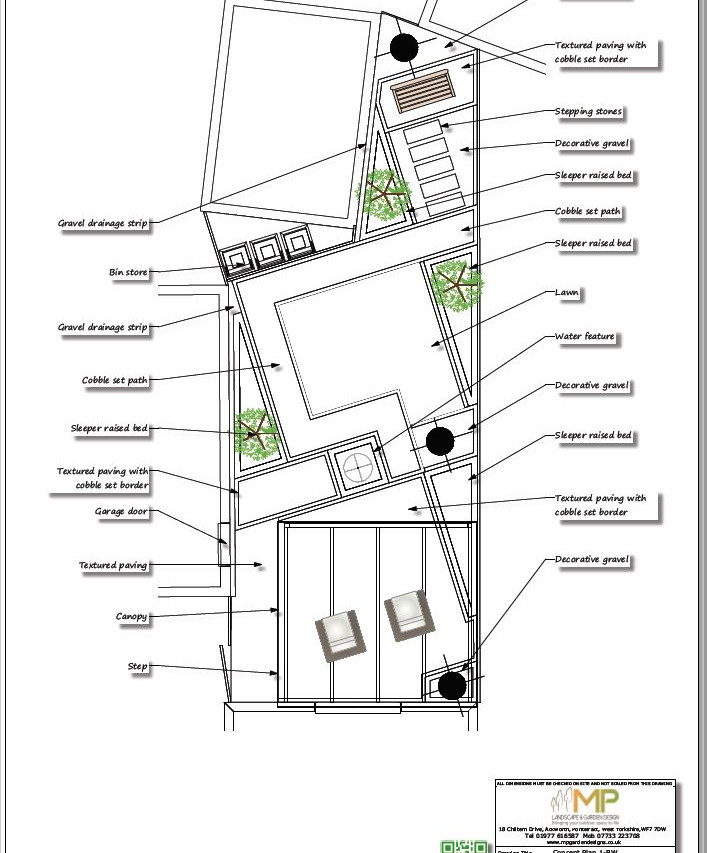 Concept plan-1 Black & white for a new build property in Wakefield, West Yorkshire.