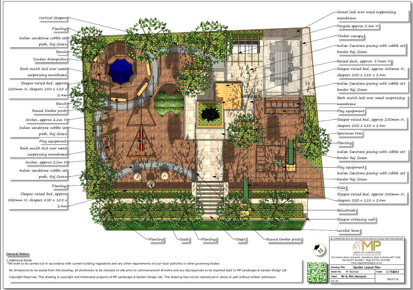1, Childrens play garden, layout plan, Pontefract