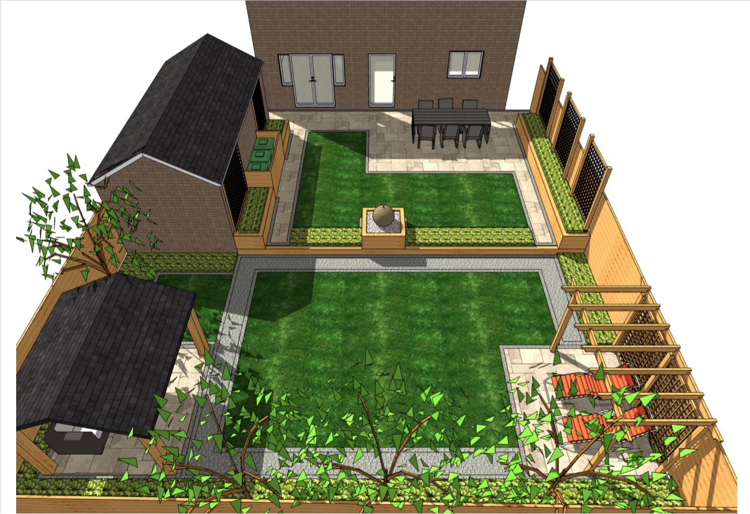 5, Concept plan-2 overview for a rear garden in Pontefract