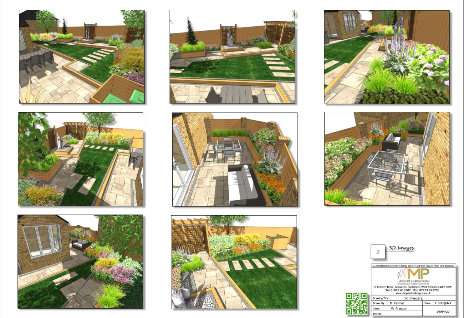 4, Colour 3D images for a rear garden South Kirkby