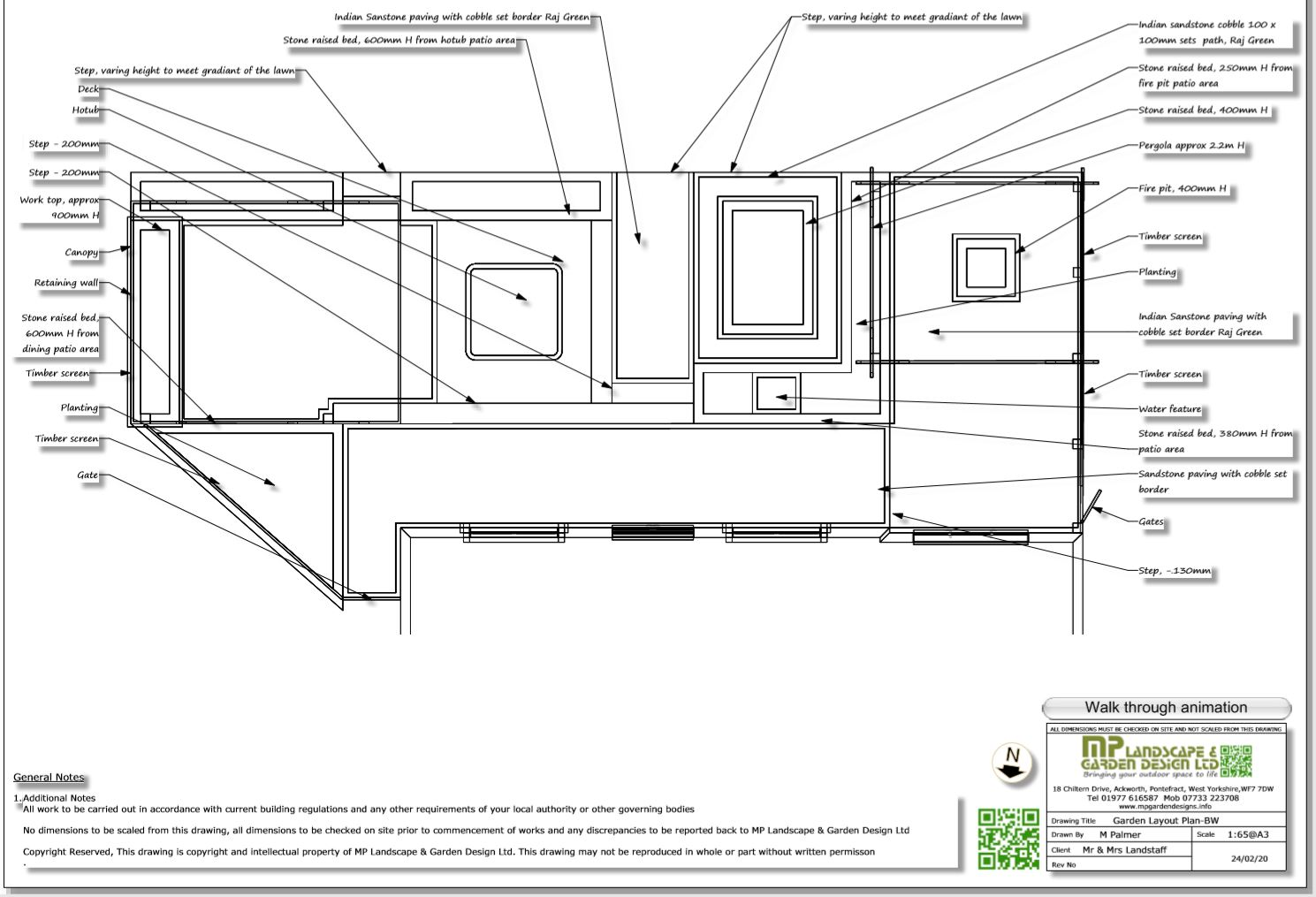 4, Patio layout plan for a property in Wakefield