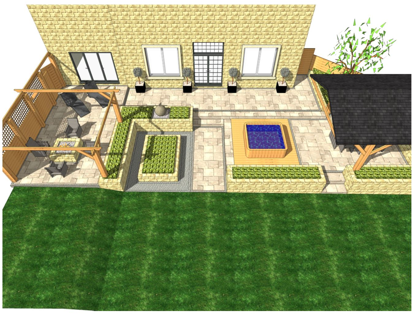 Overview-2, Garden designer Wakefield