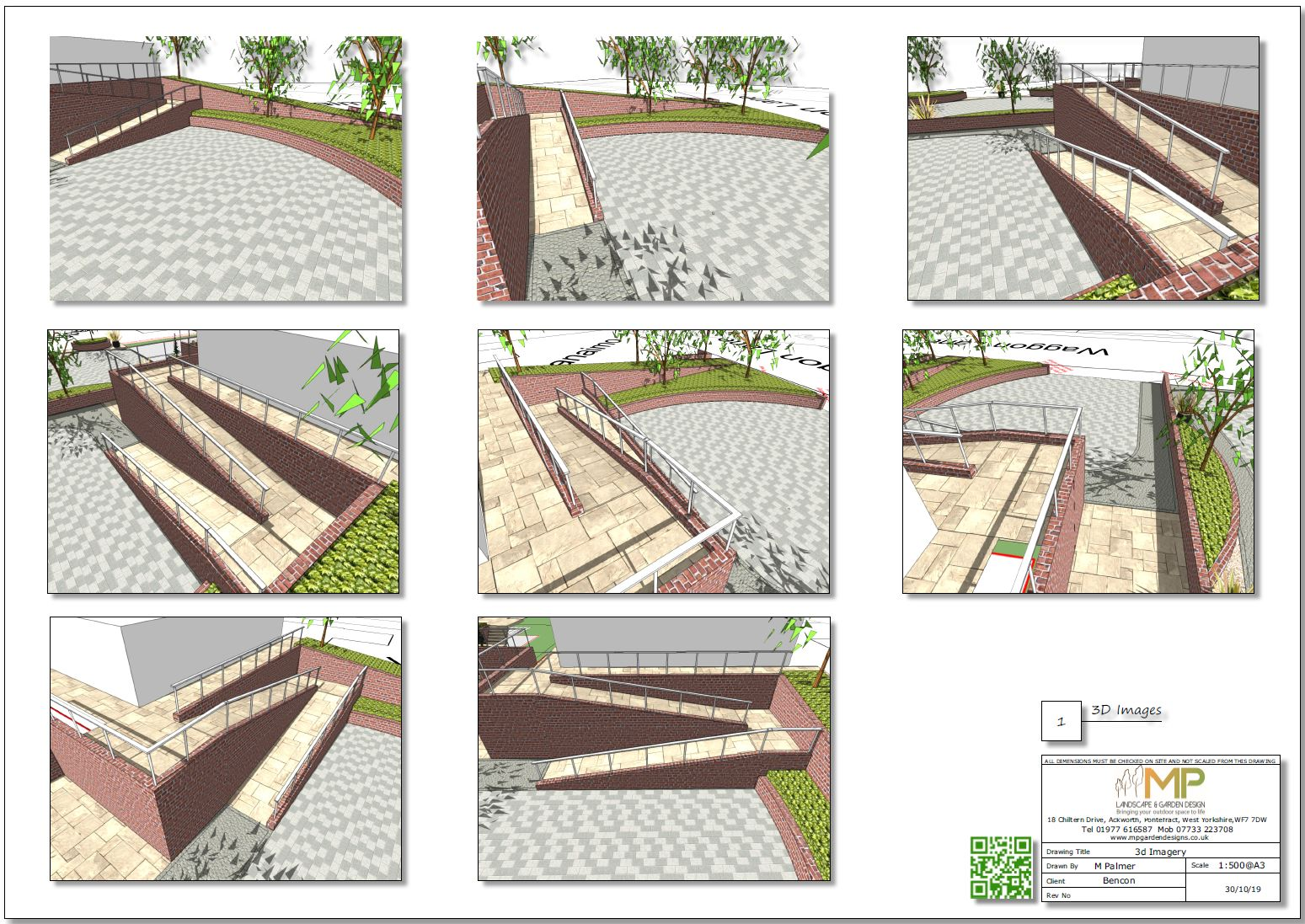 11. 3D images for a new build property in Uton West Yorkshire. Garden designer in Wakefield