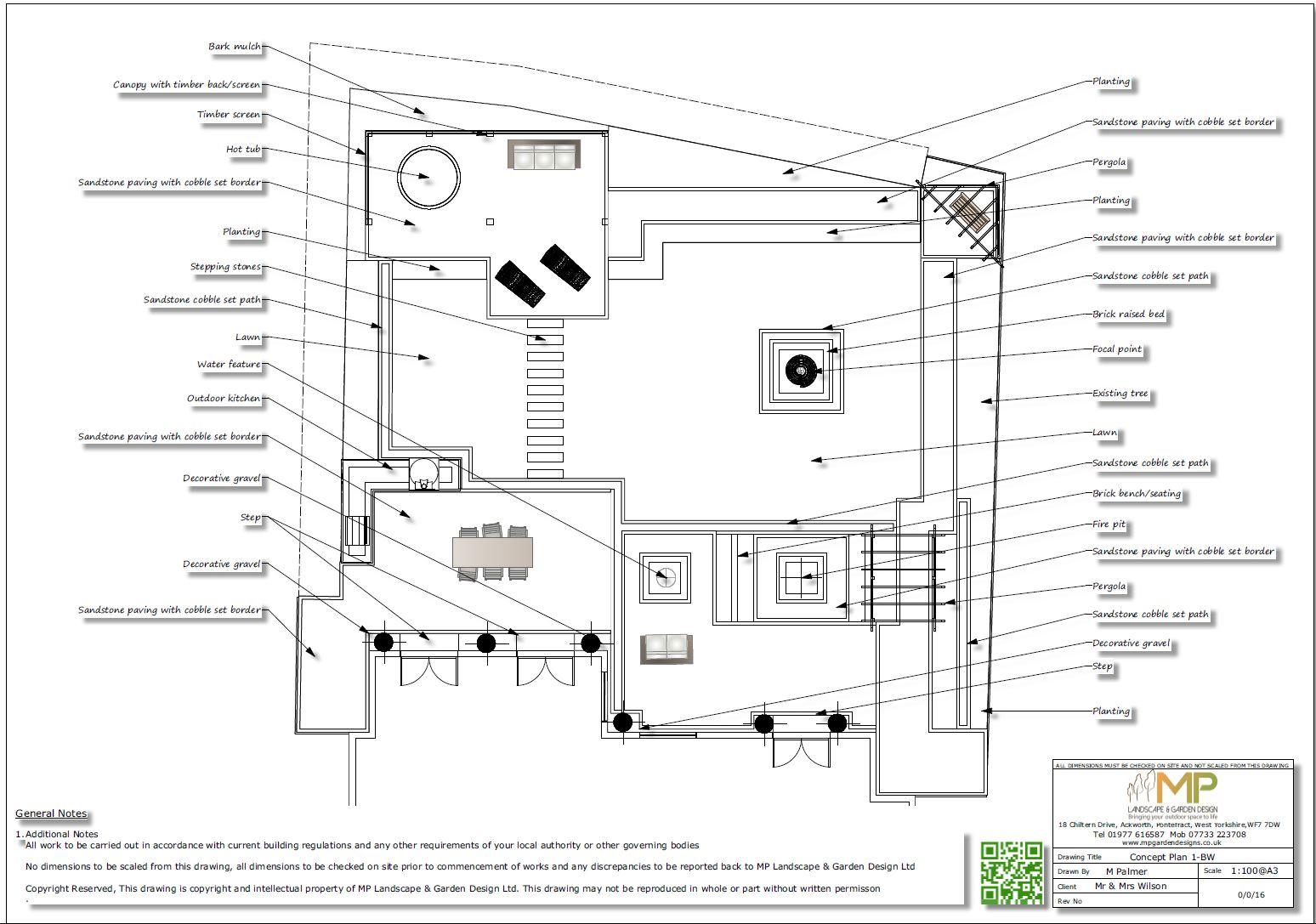 2. Concept plan-1, garden designer Wakefield