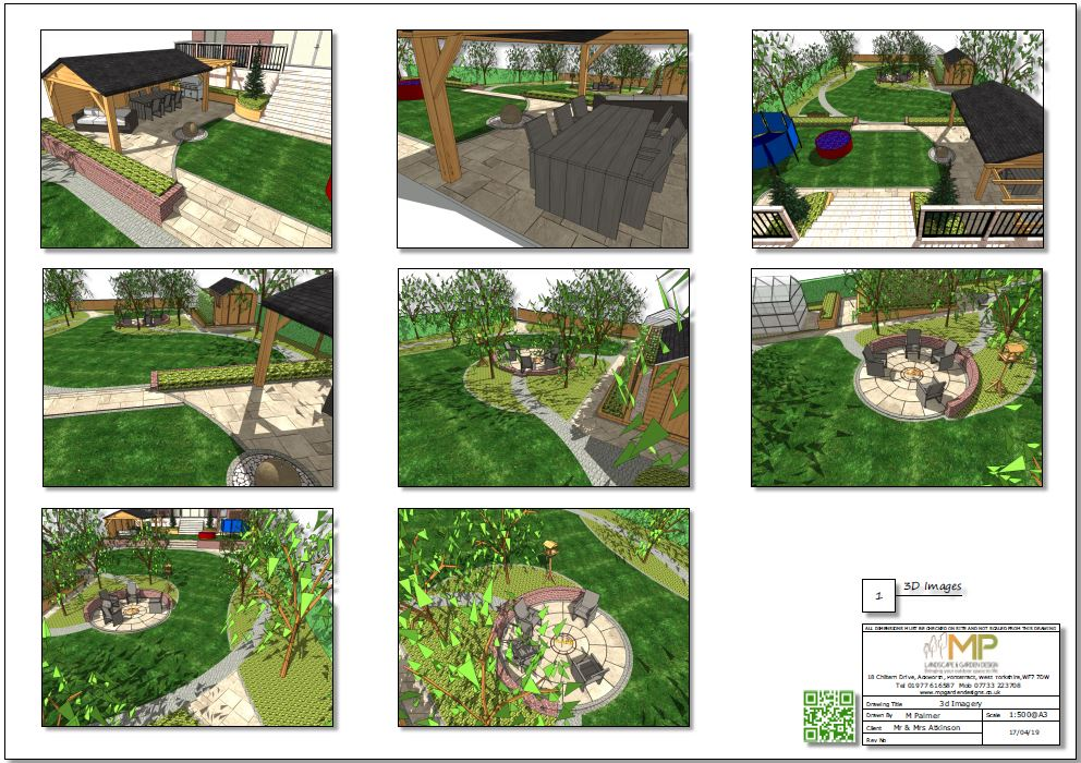 2, Colour concept paln 3D images for a property in Little Smeaton
