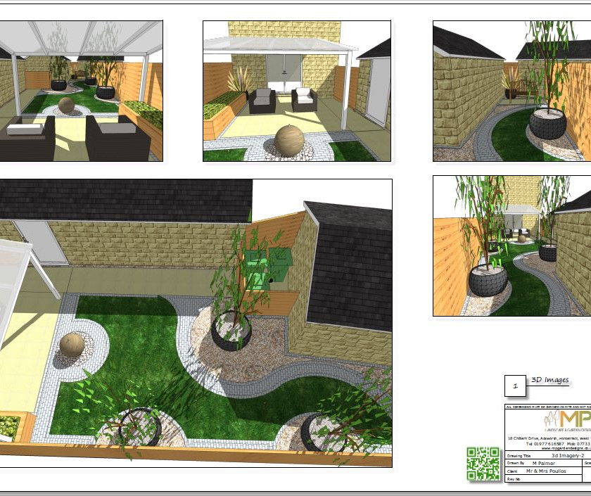 Concept plan-2 3D images for a new build property in Wakefield.