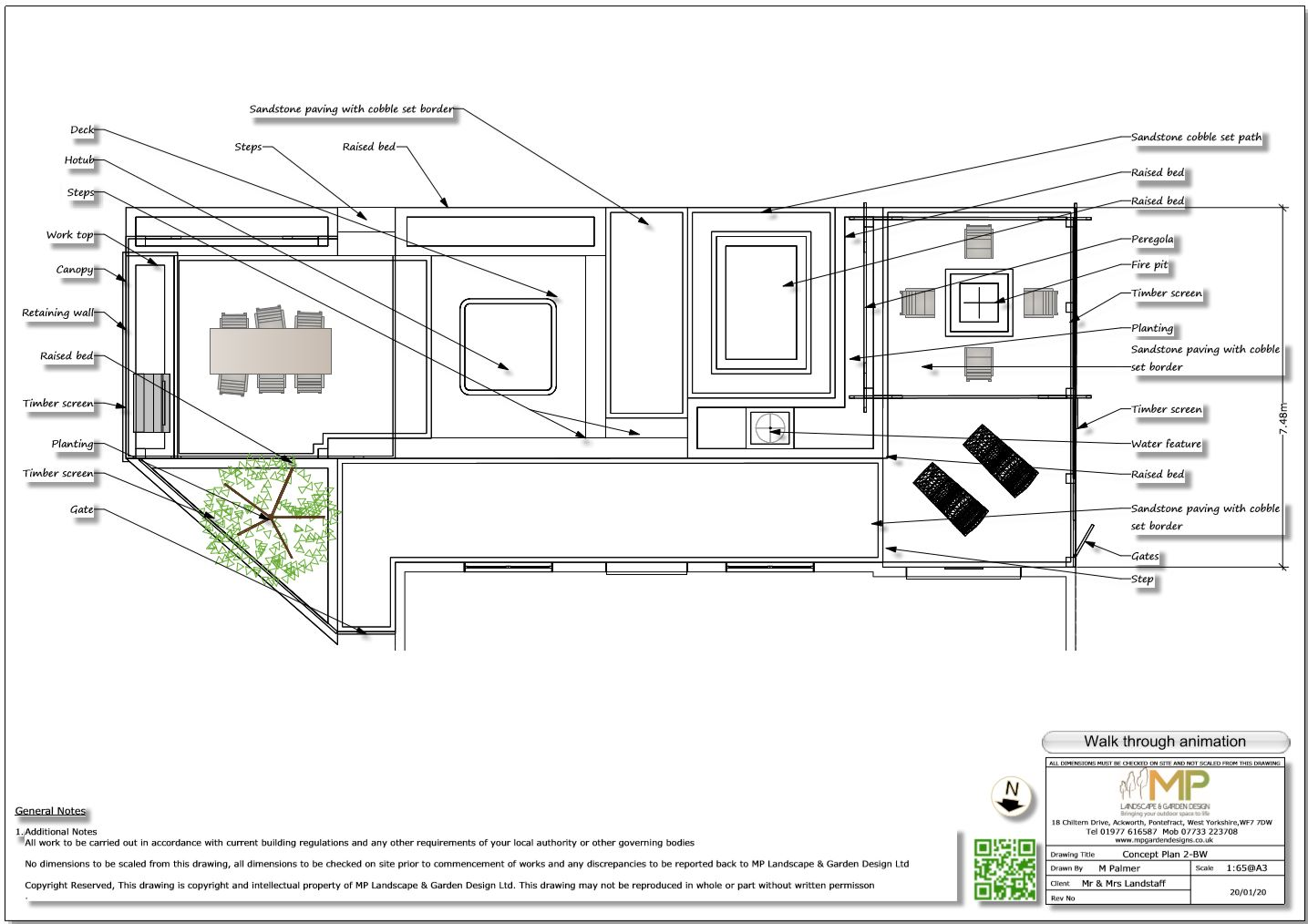 5. Concept-2 plan for a rear patio area in Wakefield