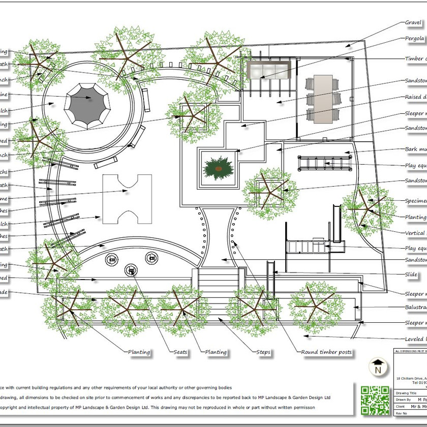 5, Childrens play garden, Black and white concept plan-2, Pontefract