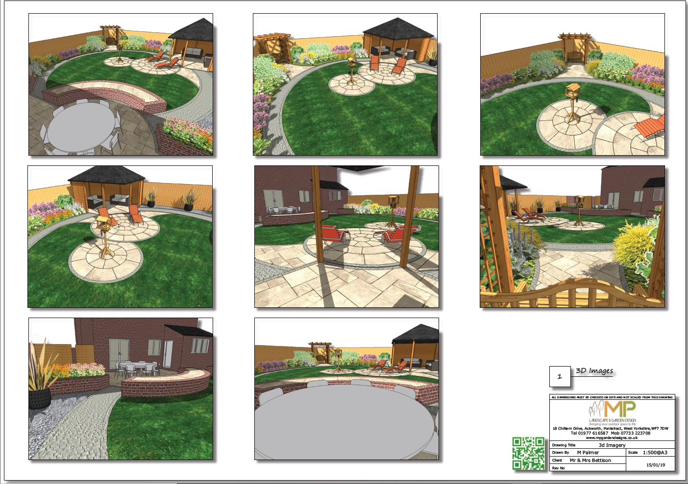 3D images for a rear garden in Wakefield.