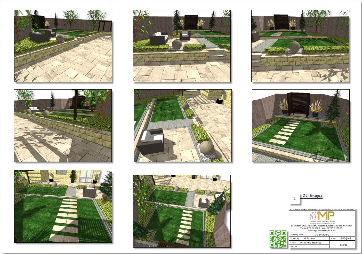 3. 3D images of a concept plan for a new build property in Wakefield.