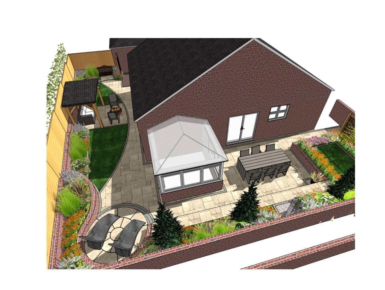1, Overview of a garden design