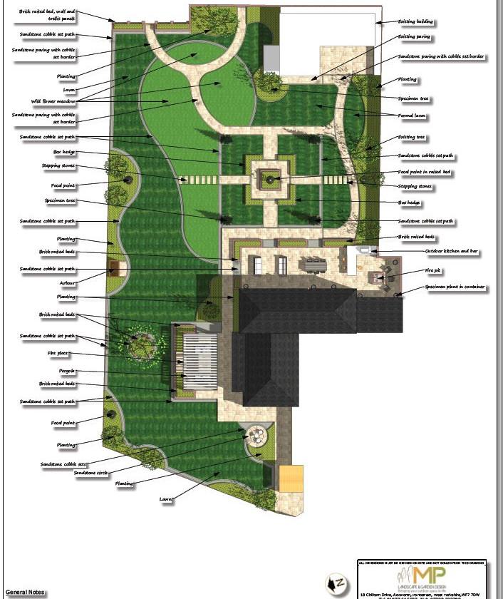 1, Landscape design colour concept plan-1, Castleford.