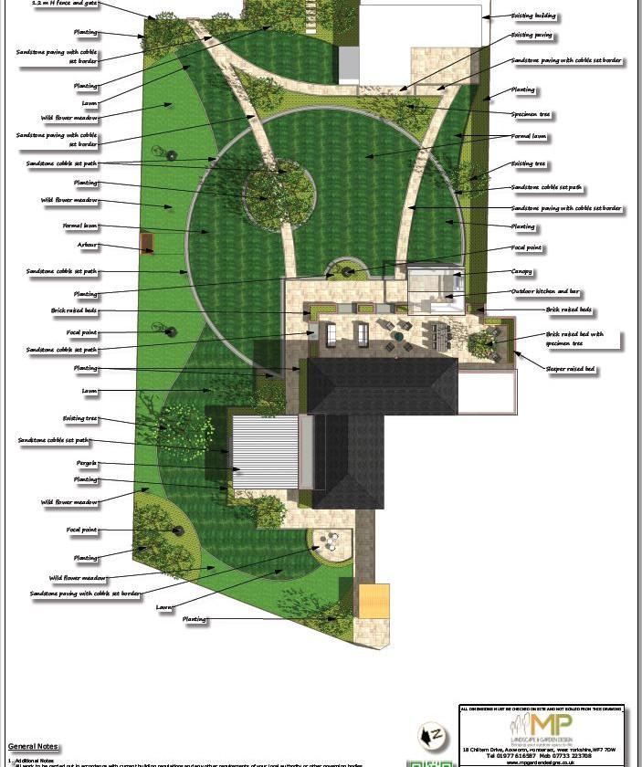 4, Landscape design colour concept plan-2, Castleford.