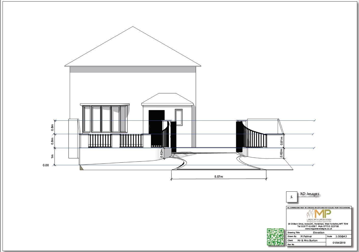 Black and white arden design plans, 3D, Ackworth.