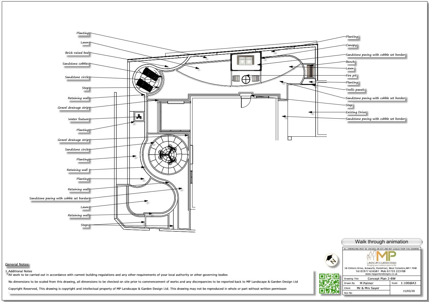 5. Concept plan for a property in Castelford.