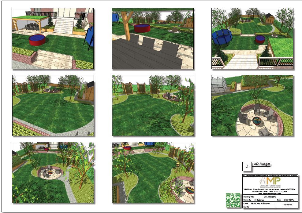 1, Colour concept paln 3D images for a property in Little Smeaton