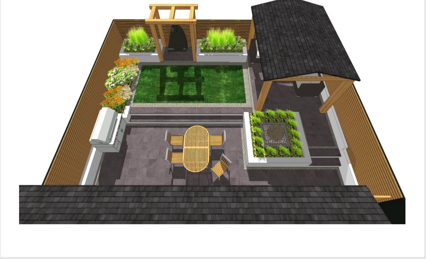 Overview of garden design in Pontefract.