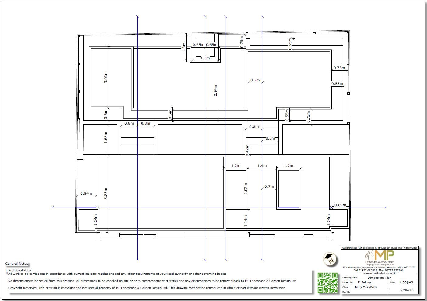 4, Dimensions plan for a new build property in Pontefract.