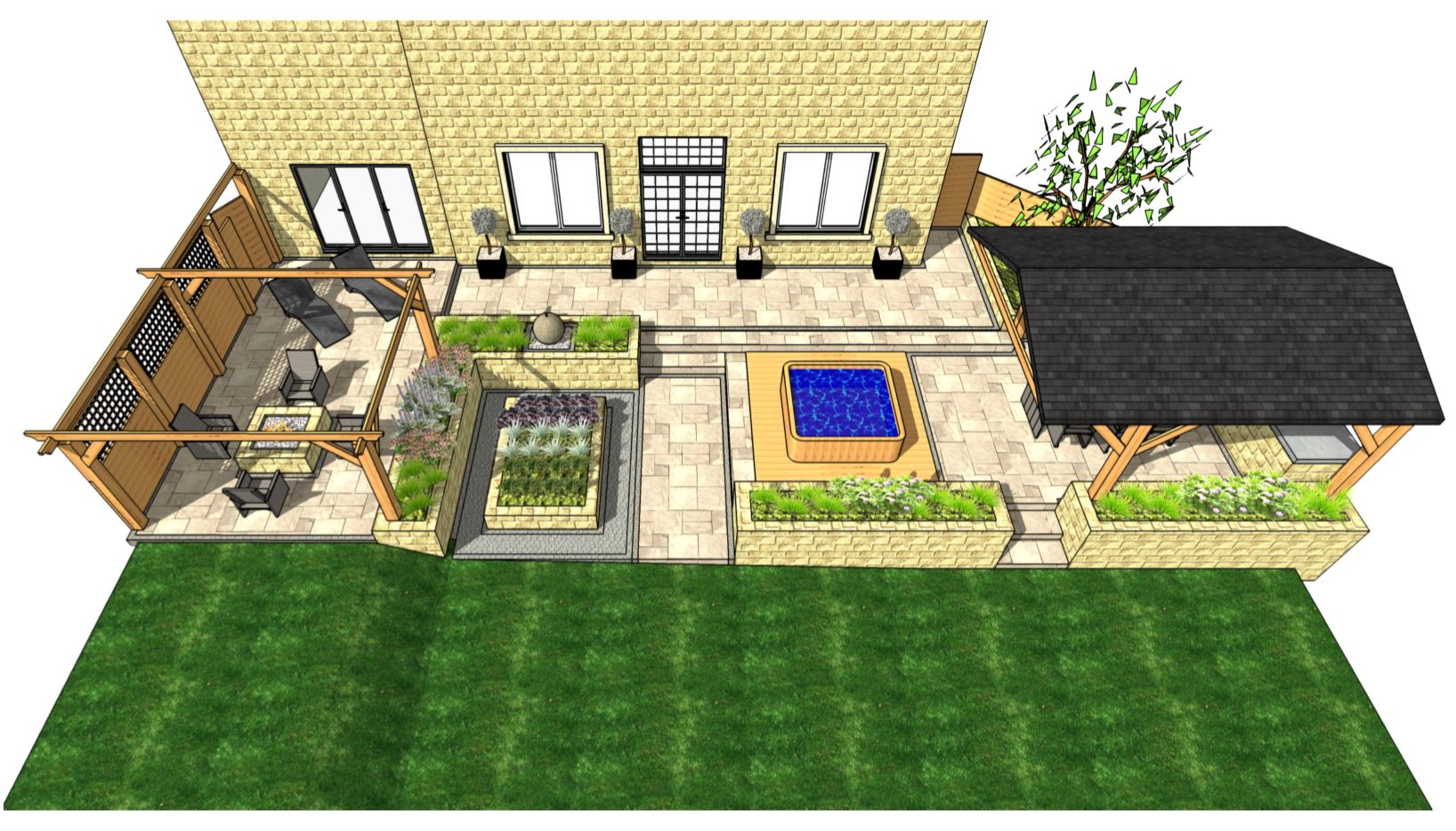 1, Overview of a patio design, Wakefield