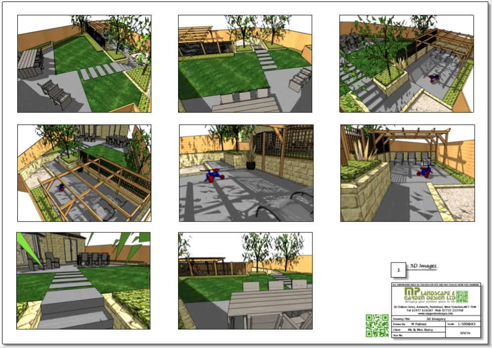 4, Concept plan-1, 3D images for a new build property in Wakefield