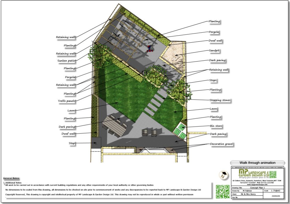 2, Colour concept plan-1 for a new build property in Wakefield