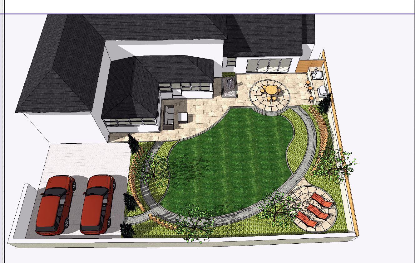 8, Landscape designer Wakefield, Concept plan2-over view