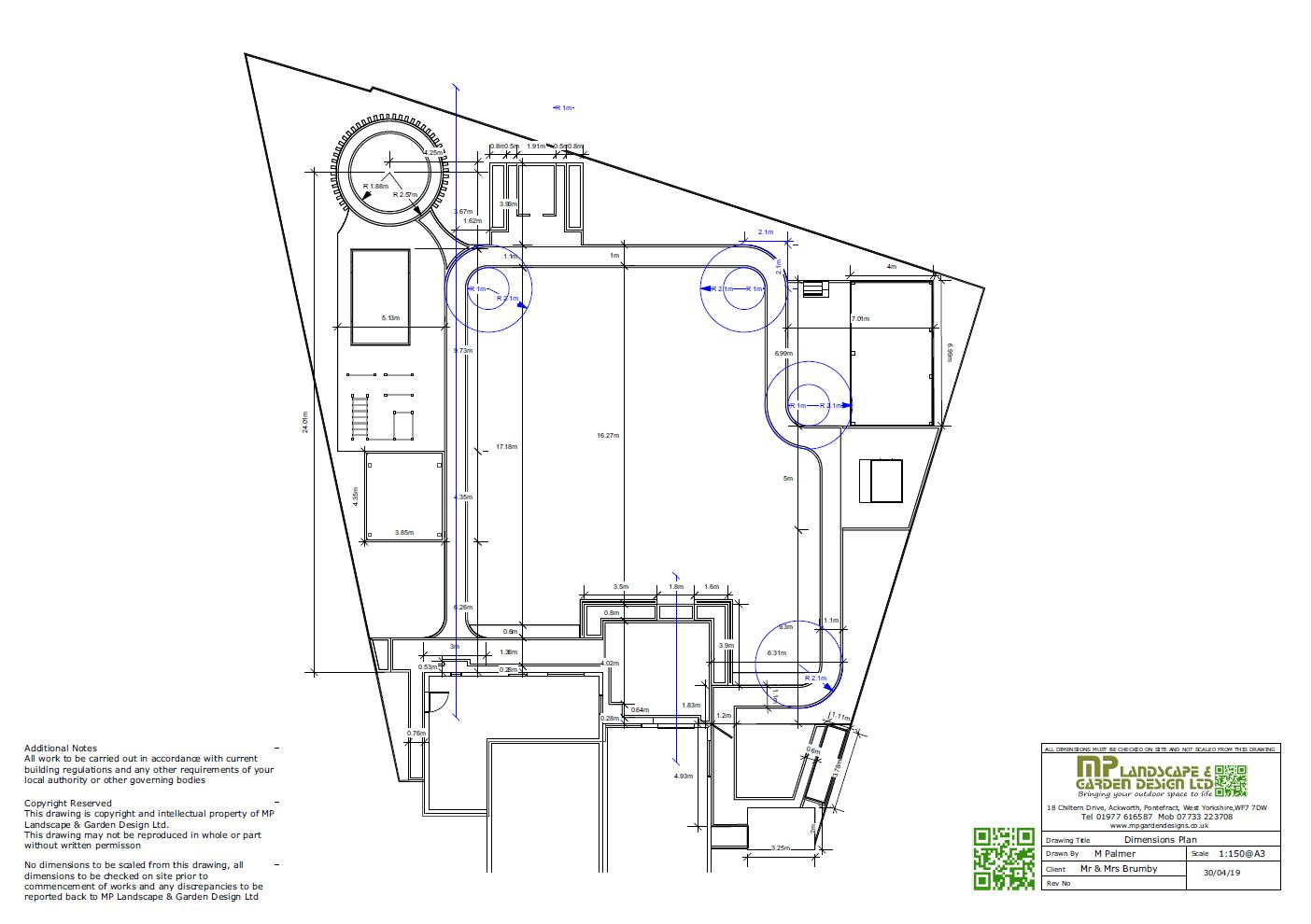 1,Garden layout plans-dimensions for a rear garden in Darrington