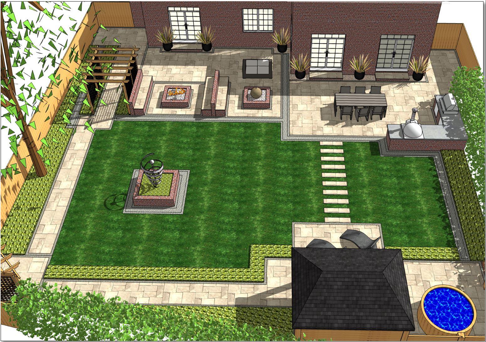 Overview-1, Garden designer Wakefield