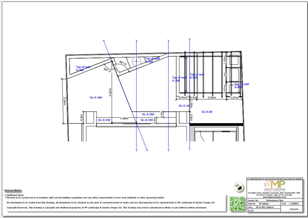 5, Dimensions plan, Wakefield.
