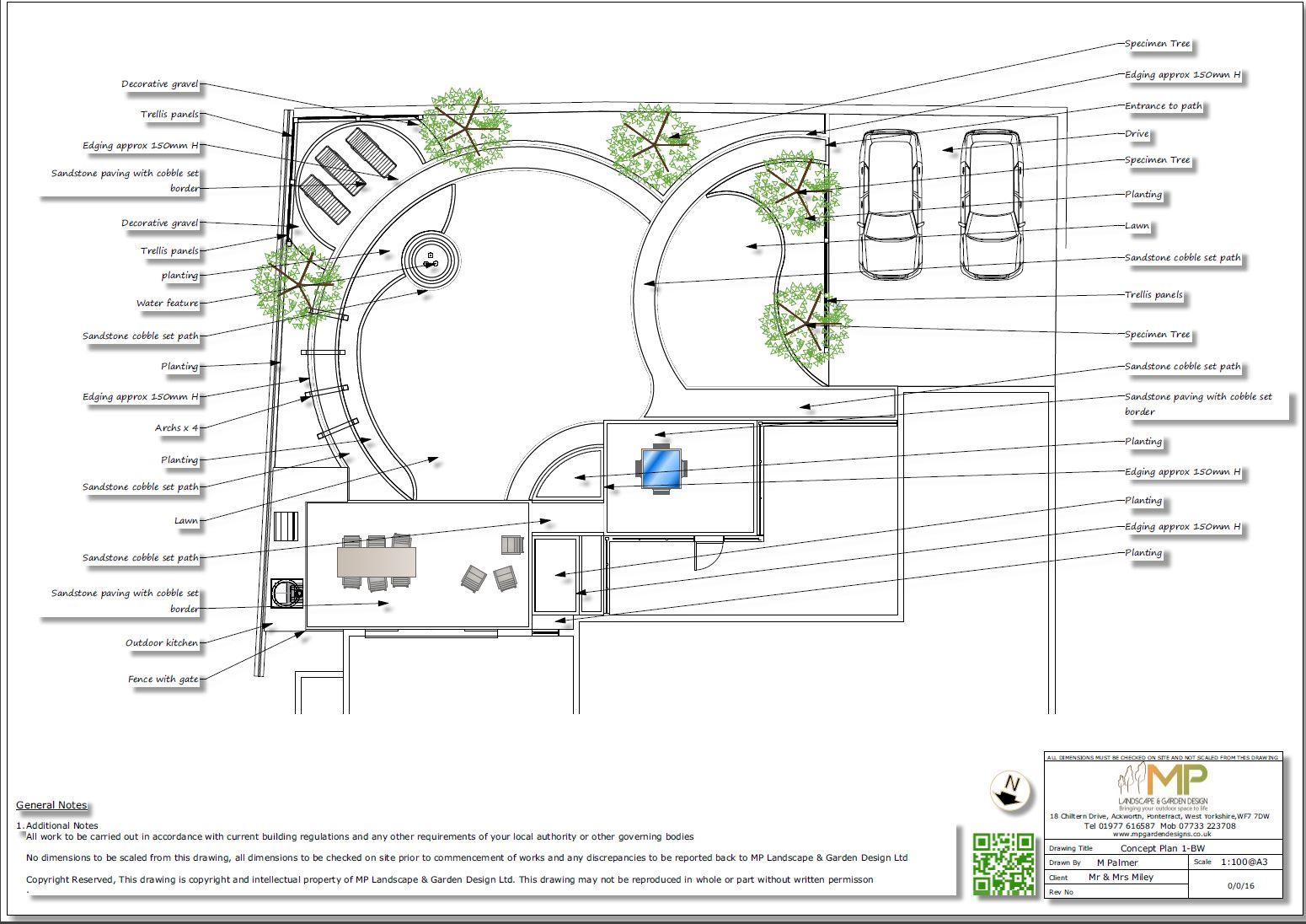 2, Landscape designer Wakefield, Concept plan-1