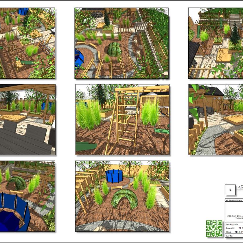 6, Childrens play garden, 3D concept plan-2, Pontefract
