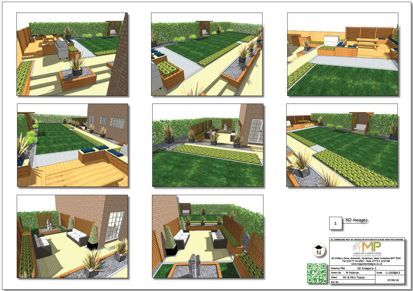 Concept plan-1 3D images for a property in Wakefield.