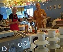 Italian Dinner Chris and Joanne prep the
