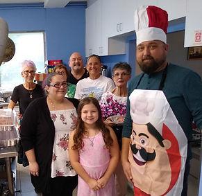 Italian Dinner Kitchen and Serving Team.