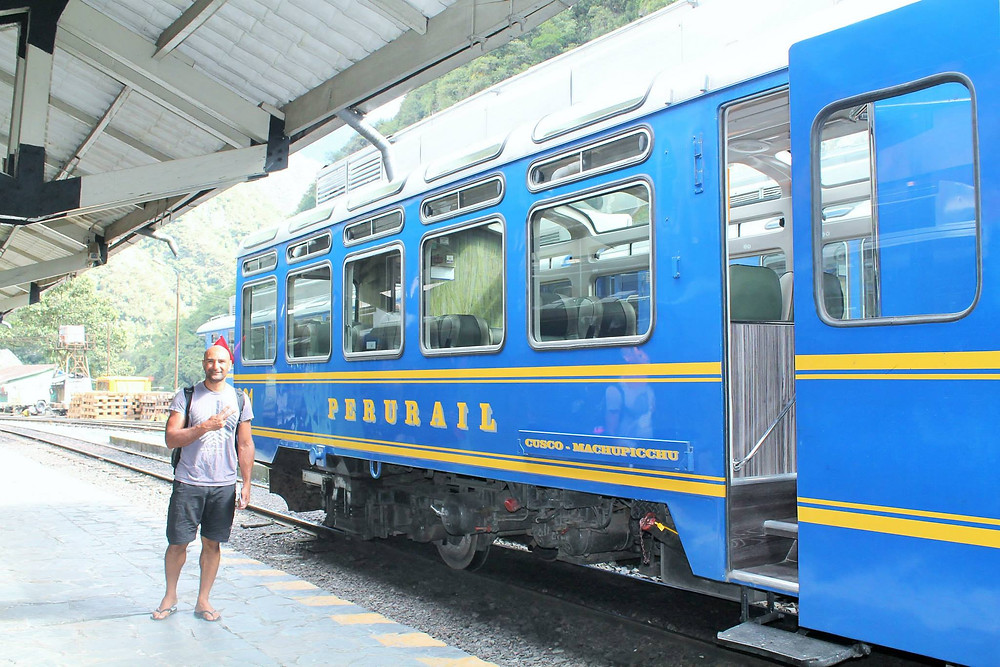 The train that will return you from Aguas Calientes to Cusco.