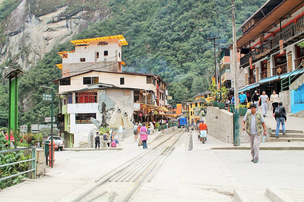 Aguas Calientes.... also known as the END of the Inca Trail experience.