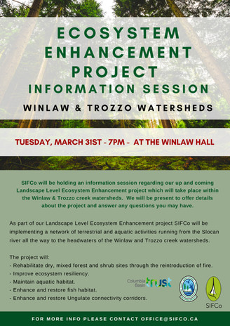 ECOSYSTEM ENHANCEMENT PROJECT INFORMATION SESSION