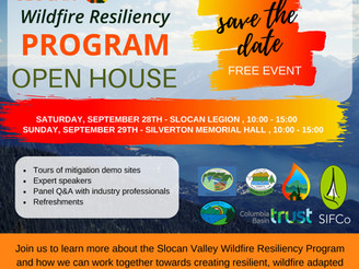 SIFCo HIRES NEW SLOCAN VALLEY WILDFIRE RESILIENCY PROGRAM MANAGER