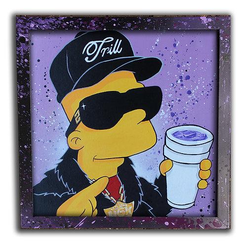 Bart Trill as Pimp C ; 12 inch Print & Frame