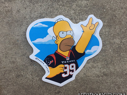 Homer Houston Texans Sticker