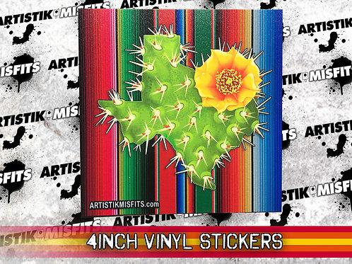 Texas Cactus Serape Sticker