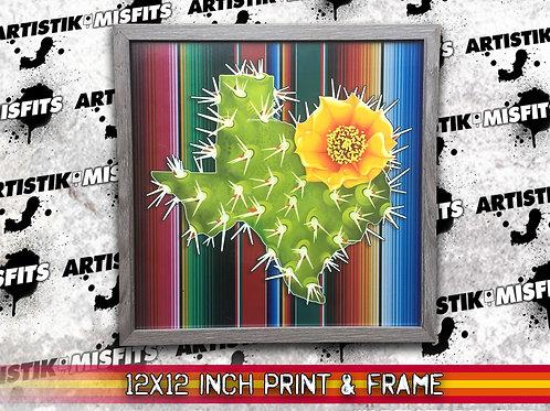 Texas Cactus 12x12 inch Print