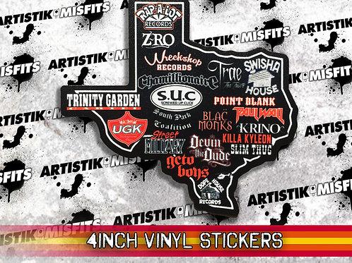 Texas Rap Sticker