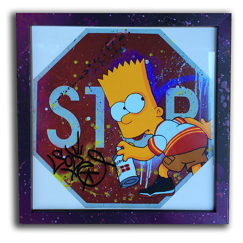 Bart Simpson Astros Graffiti 12 inch Print