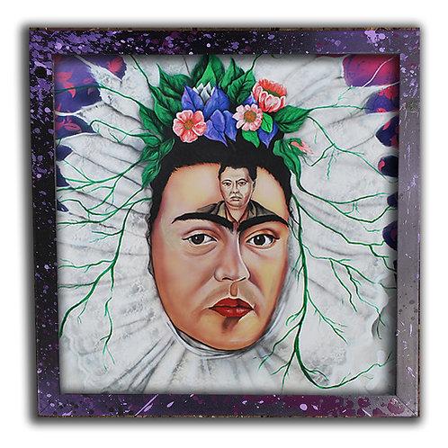 Portrait of Frida Kahlo 12 inch Print & Frame