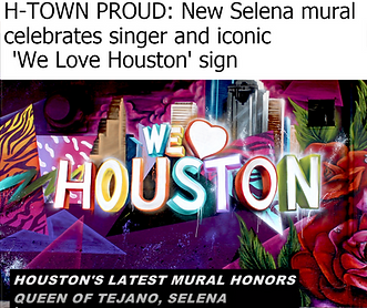 Selena Mural, We Love Houston Mural