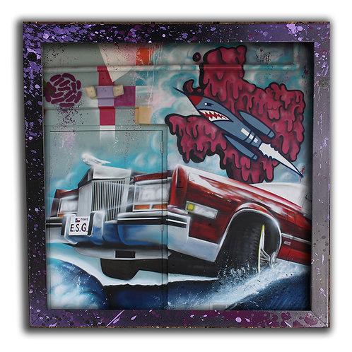 Ocean Of Funk Graffiti 12 inch Print & Frame